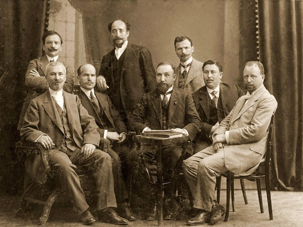 Снимка на майстори от далечната 1917 година
